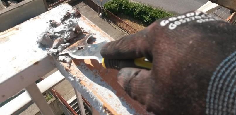 Come recuperare una ringhiera in ferro verniciata